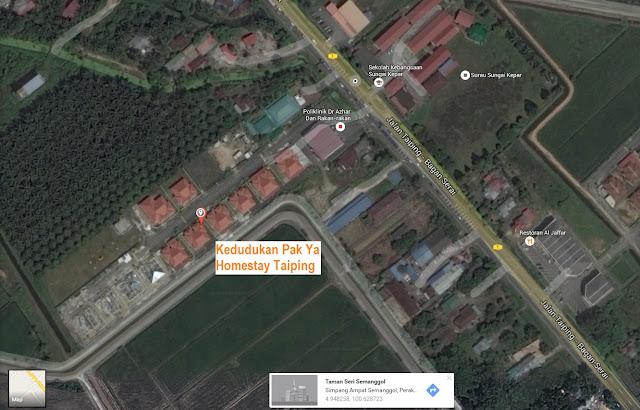 Kedudukan Pak Ya Homestay 3 di Taiping Perak