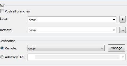 Modify the remote origin URL of your repository in TortoiseGit