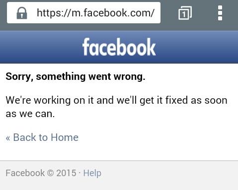 Errornya Facebook Pada Tanggal 24 September 2015