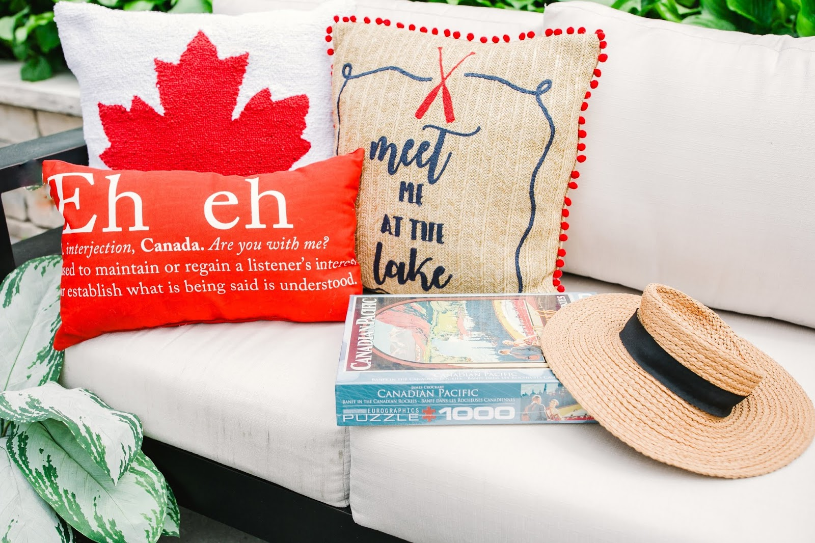Bijuleni - How to Throw a Stylish Canada Day Summer Party - Canada Theme Pillows