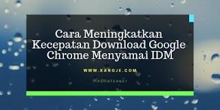 Cara Meningkatkan Kecepatan Download Google Chrome Menyamai IDM