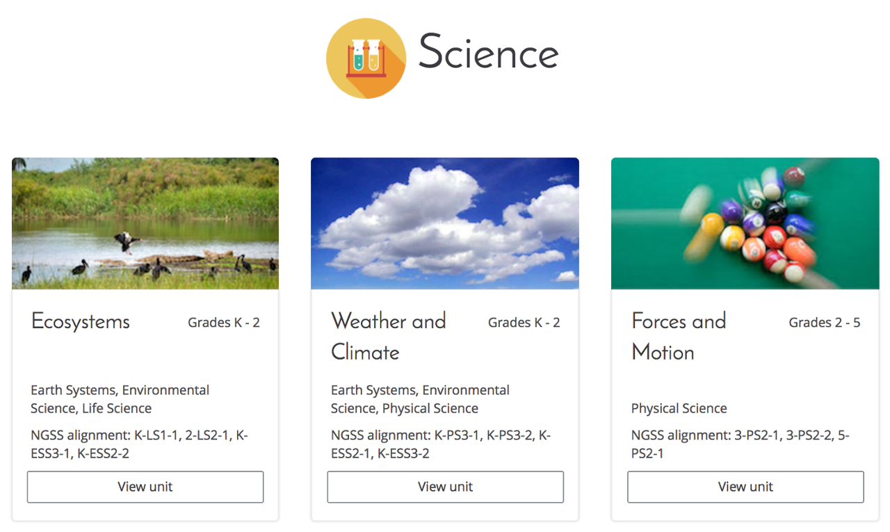 Free Technology for Teachers: Front Row Offers New Science Units for