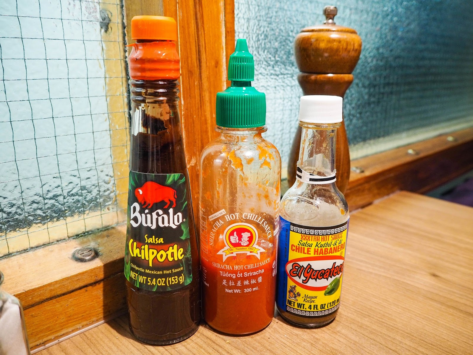Hot sauce selection
