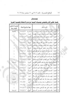 الجنسية المصرية, مصر, وزارة الداخلية,