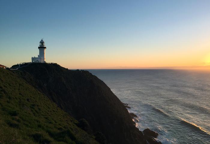 Byron Bay Lighthouse at sunrise
