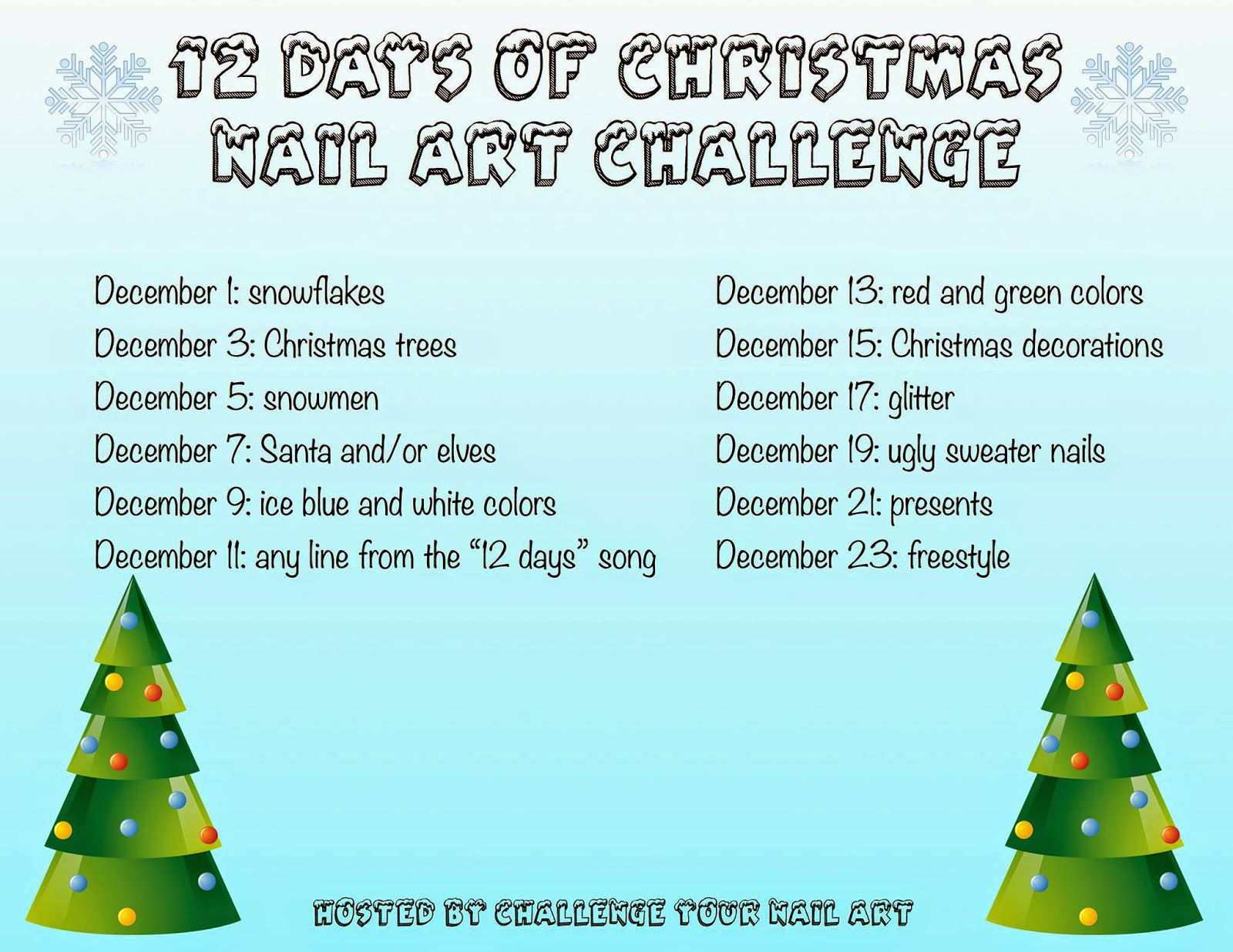 Mom Mrs Amp Me Challenge Your Nail Art 12 Days Of