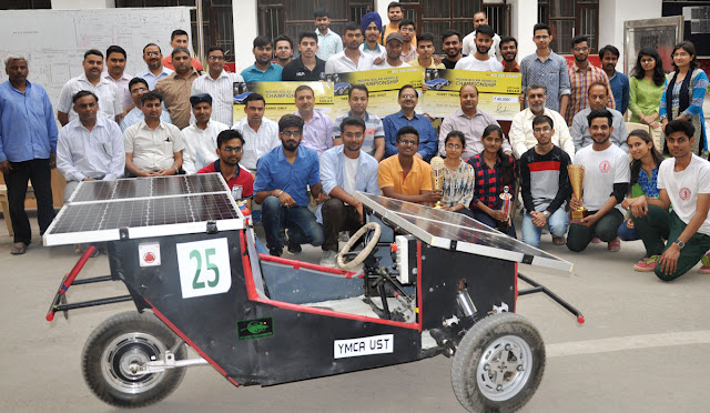 YMCA University's students got a solar car