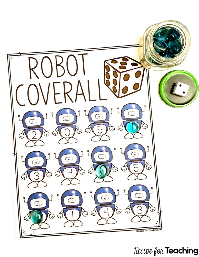 robot coverall games recipe for teaching