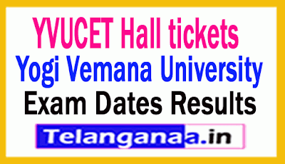 YVUCET  Hall Tickets Exam Dates Results