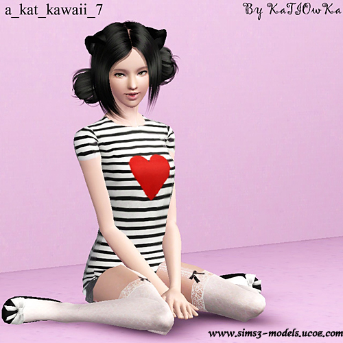 Empire Sims 3 Kawaii Pose Set By Katiowka