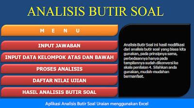 Analisis Butir Soal Dengan Excel