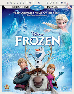 Disney Frozen movie on blu-ray disc