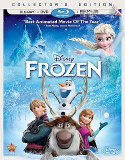 Disney Frozen movie on blu-ray disc