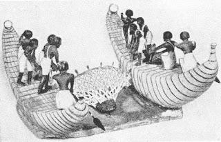 Egyptian reed fishing boat model