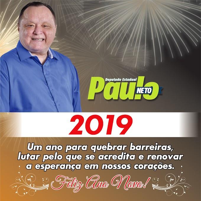 Mensagem de Ano Novo do deputado Paulo Neto.