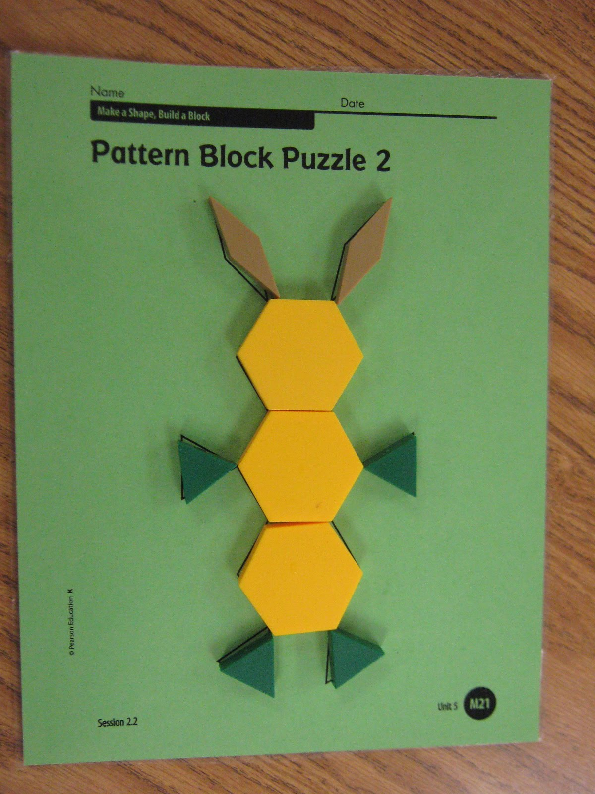 Kindergarten News Pattern Block Puzzles