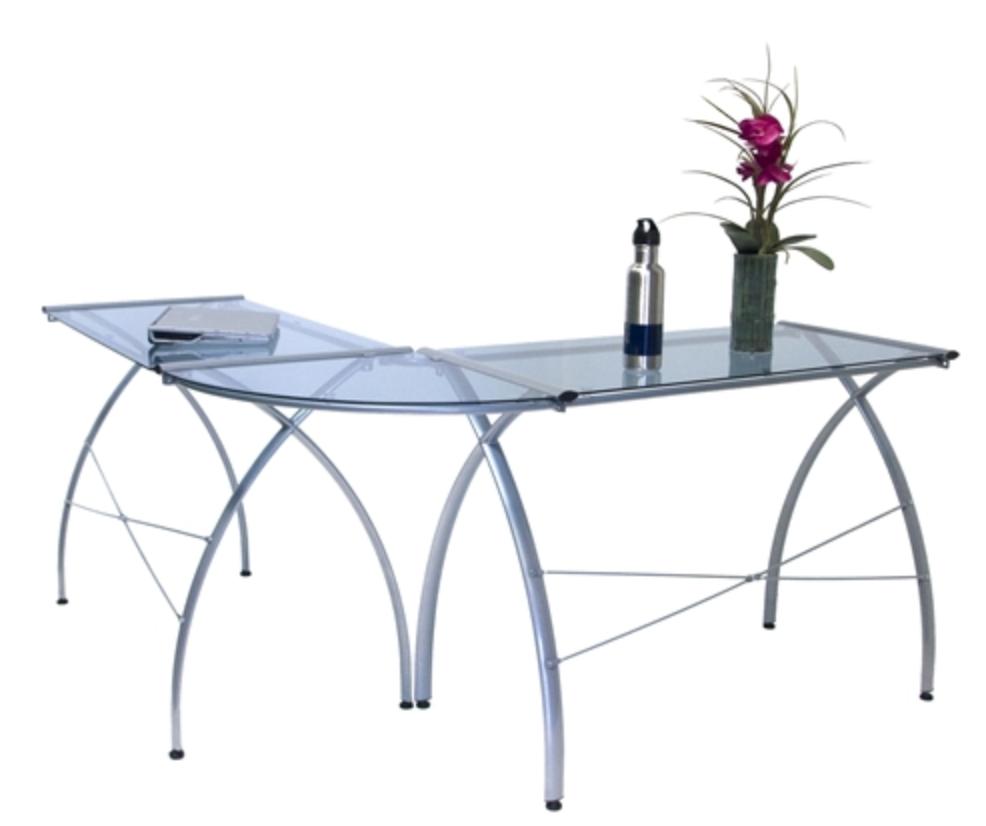 Jameson Glass Corner Desk by Calico Designs
