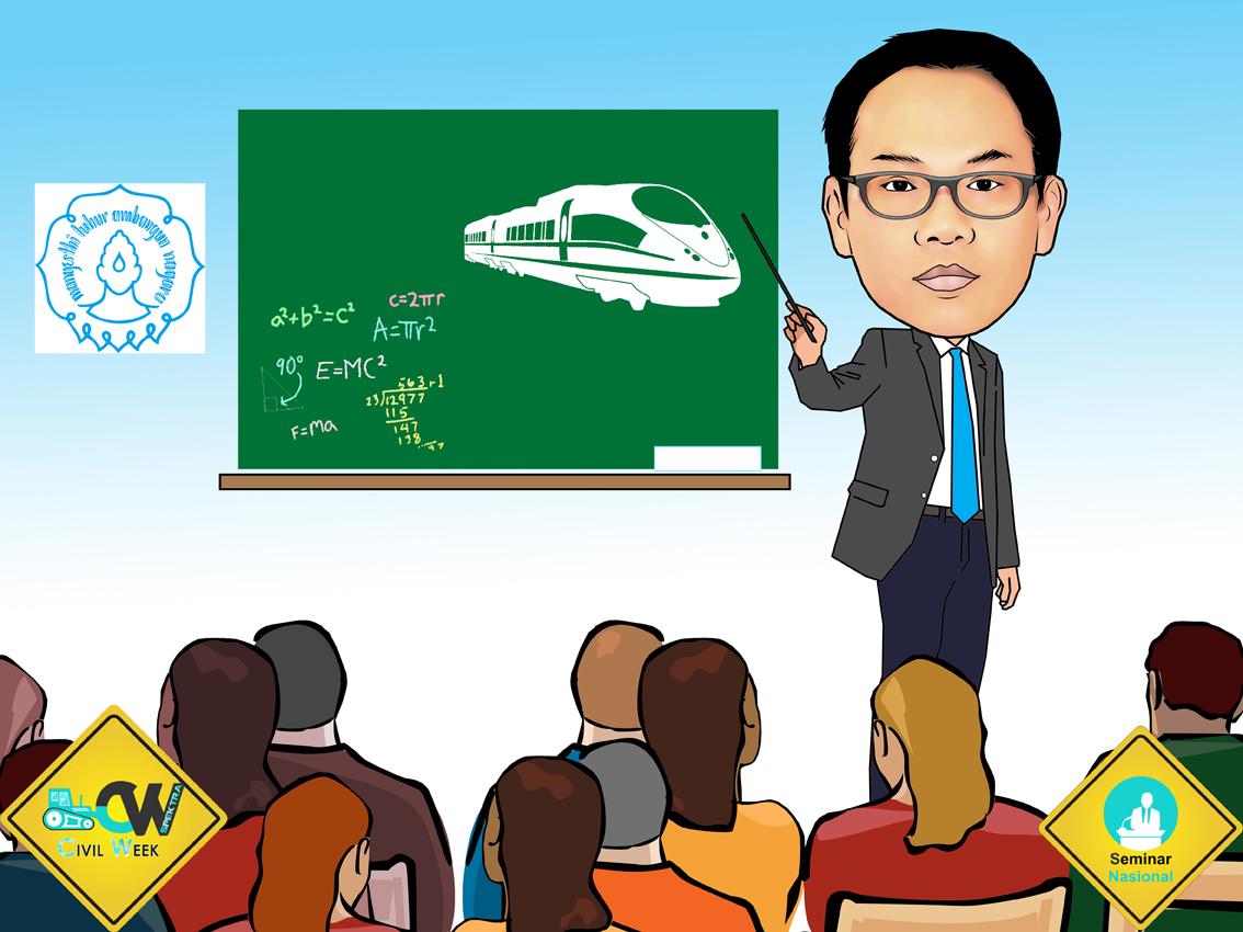 PESAN KARIKATUR MURAH Karikatur Pembicara Seminar