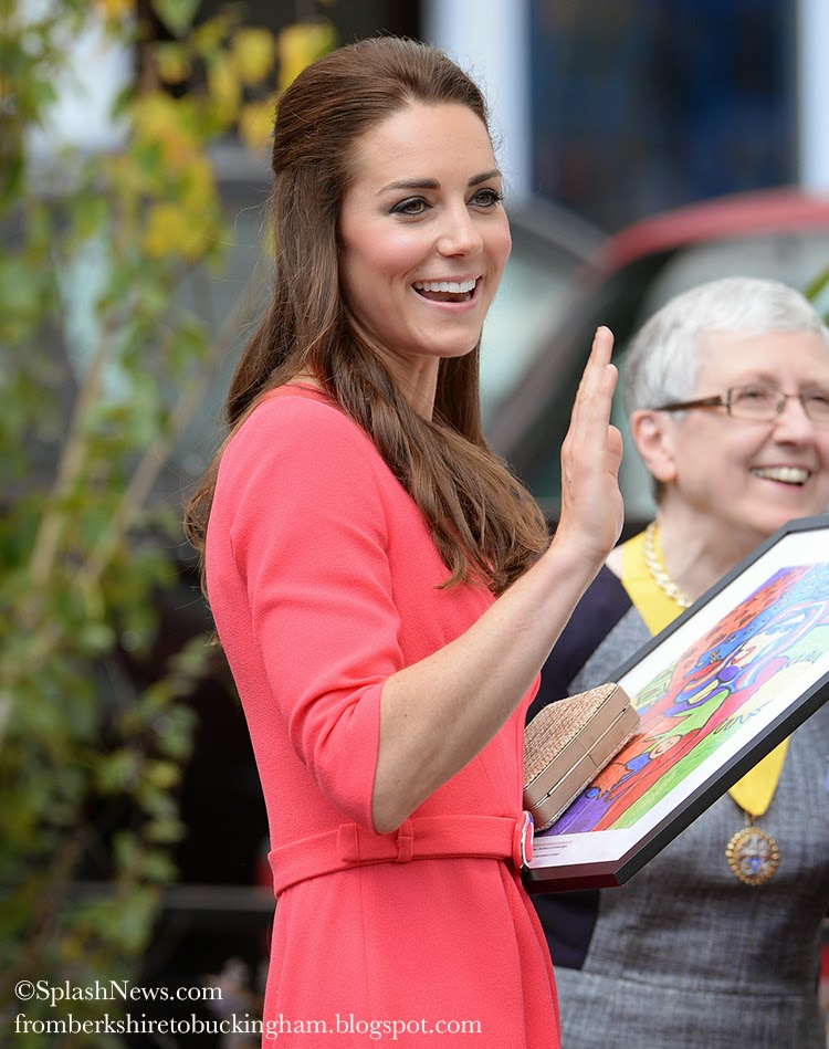 From Berkshire to Buckingham : Kate Wears Goat Sheath Dress For Visit to Blessed Sacrament ...