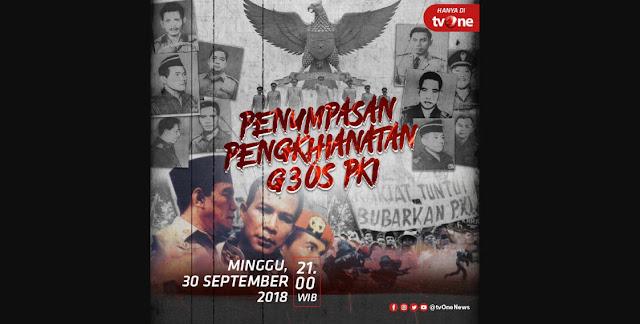 """TVONE Akan Tayangkan Film """"Penumpasan Pengkhianatan G30S PKI"""""""