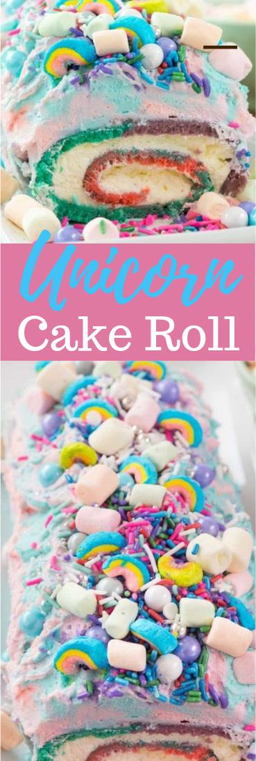 Unicorn Cake Roll #desserts