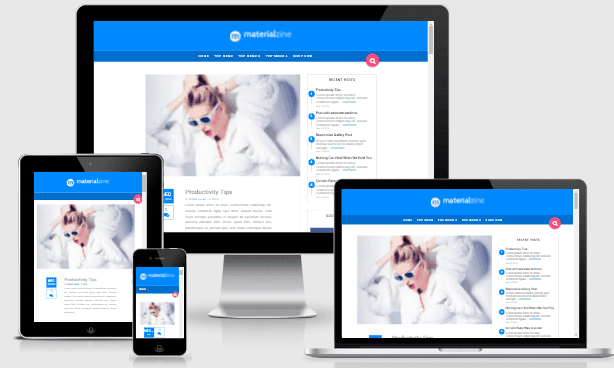 Material  by YO responsive Blogger template