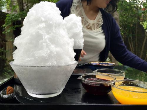 フワフワの天然氷
