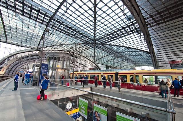 Estação de trem em Berlim