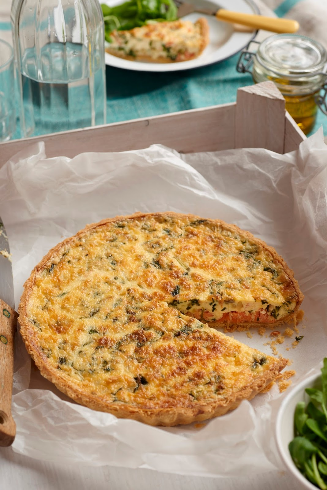 Smoked Trout, Duck Egg and Watercress Quiche with Davidstow® 18 Month Extra Mature Cheddar