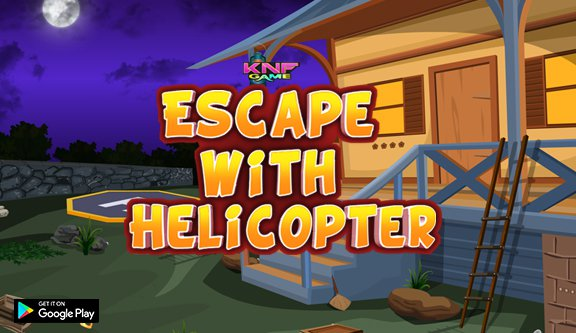 KnfGames Escape with Helicopter Walkthrough