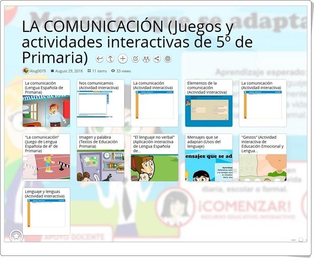 """""""11 Juegos y actividades interactivas para el estudio de LA COMUNICACIÓN en 5º de Primaria"""""""