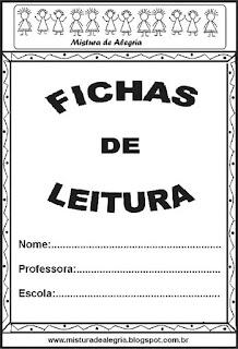 Fichas de leitura - capa