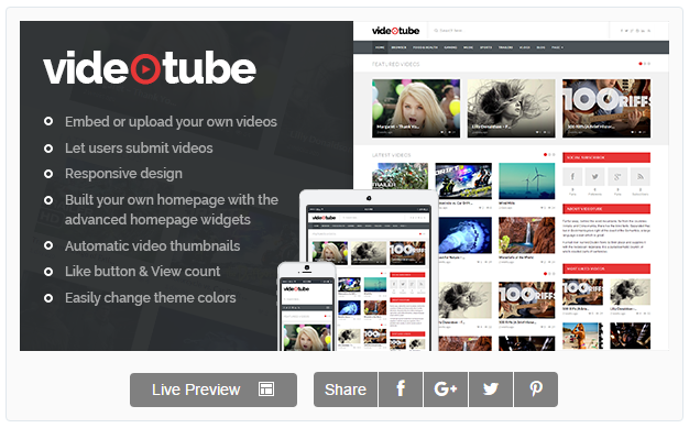 [GIVEAWAY] VideoTube [A Responsive Video WordPress Theme]