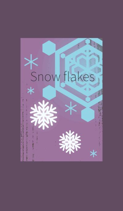 snow flakes 2 (purple vintage)