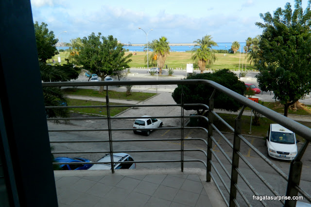 Varanda do apartamento do Hotel NH Palermo, Sicília
