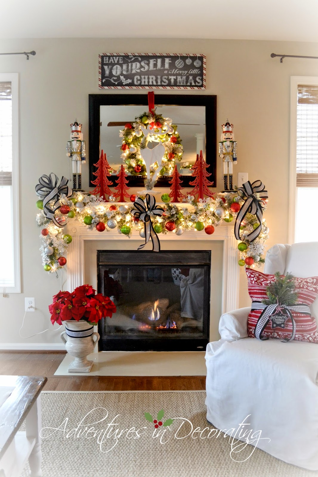Adventures in Decorating: Our 2014 Christmas Mantel and ...