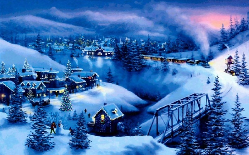 Christmas Winter Scenes Images