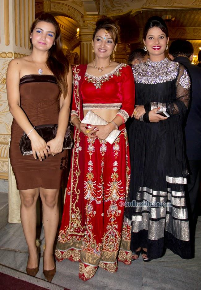 rajesh hamal and madhu bhattarai wedding, arunima lamsal, Jharana bajracharya, sumnima ghimire