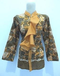 Baju batik kerja keren