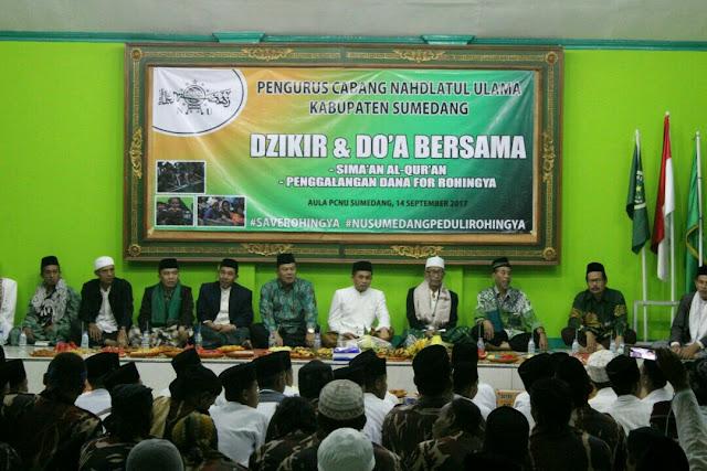 PCNU Sumedang Gelar Dzikir dan Doa Bersama untuk Etnis Rohingya.