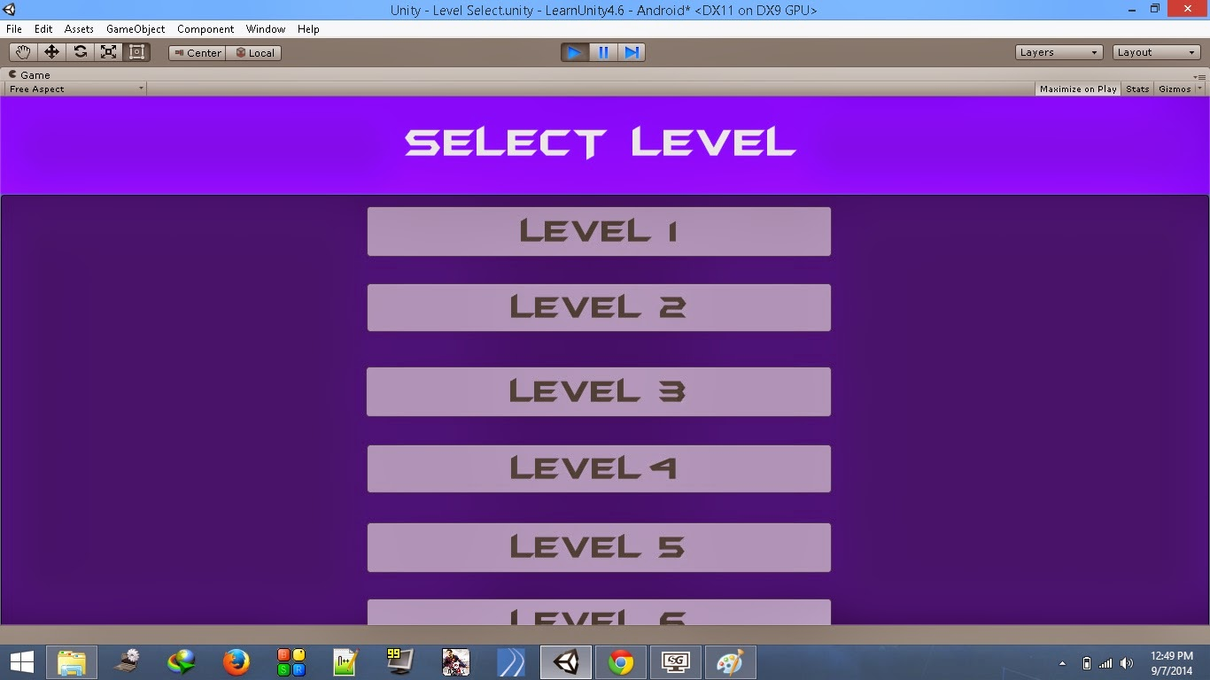 Create A Level Select Scroll Menu - Unity 4.6 | The Game ...