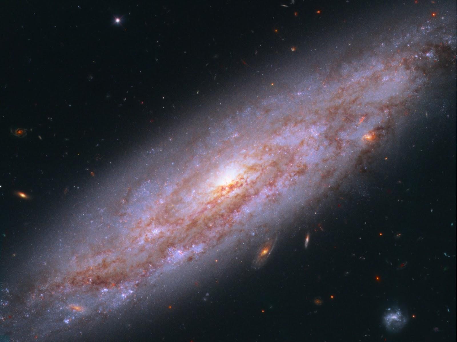 Dữ liệu của các sao biến đổi Cepheid thuộc Thiên hà NGC 3972 được sử dụng để đo sự giãn nở của vũ trụ. Ảnh: NASA.