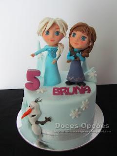Bolo de aniversário Disney Frozen