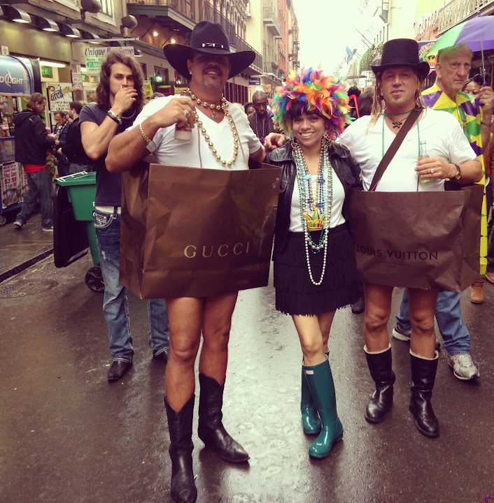 Gucci Louis Vuitton Hunter Boots in Mardi Gras