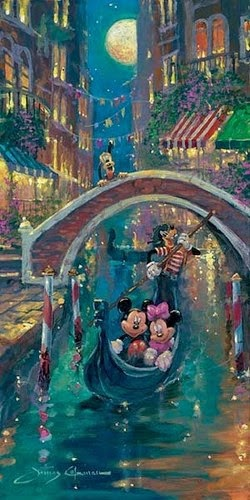 Luar em Veneza - James Coleman e seus desenhos da Disney