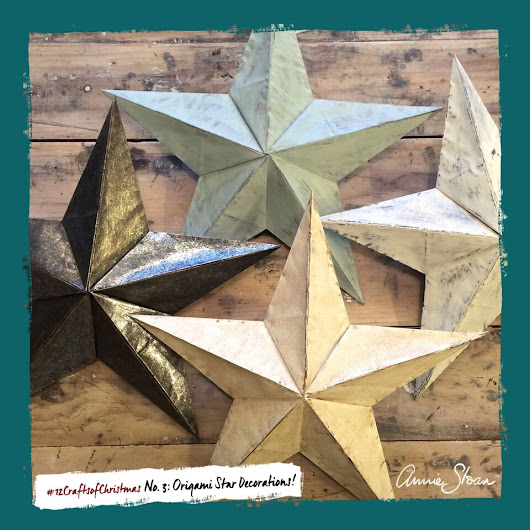 The 12 Crafts of Christmas – No. 3: Origami Star Decorations