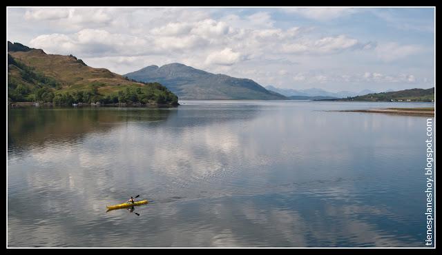 Lago Duich Castillo Eilean Donan (Escocia)