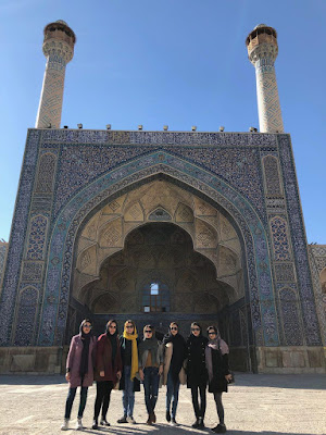 We organically posted this photo in Jame Mosque of Isfahan as a way to introduce some members of Uppersia family. Thanks to our general manager for running this trip to Isfahan and Kashan.