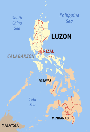 Rizal map