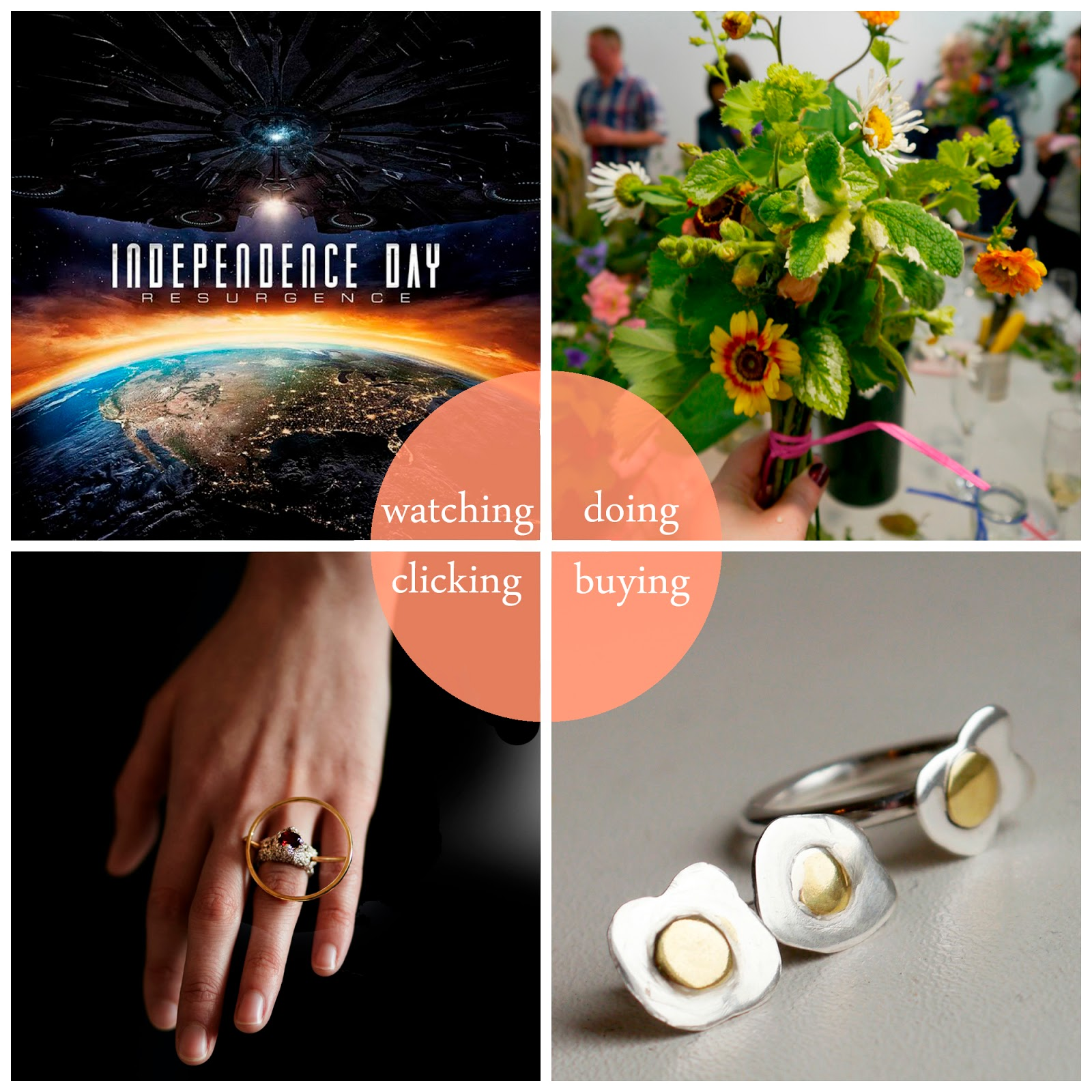 best bits, round up June 2016, 2016 best bits, Independence Day: Resurgence, M Boutique, M Boutique Dundee, Blooming Bees, jewellery making, Vanilla Ink